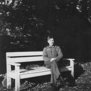 Gerhard Berger, als pionier te werk gesteld in Höxter (Collectie familie Berger)